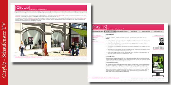 CityUp Schaufenster-TV